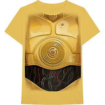 Star Wars - C-3PO Chest Men's XX-Large T-Shirt - Yellow