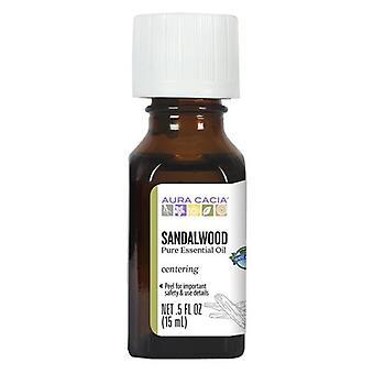 Aura Cacia Essential Oil Sandalwood, 0.5 Fl Oz