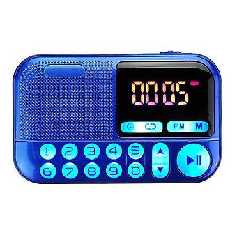 Bärbar FM Radio Digital Display Dubbla röst coil högtalare TF Card Musikspelare