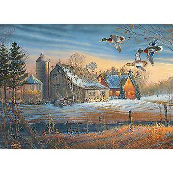 Cobble Hill Farmstead Flyby Jigsaw Puzzle (500 Pieces)