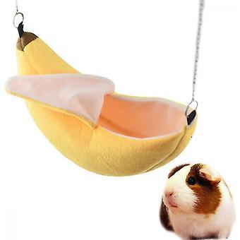 Hamster Hanging House Riippumatto Banaani Design Pienet Eläimet Puuvilla Häkki
