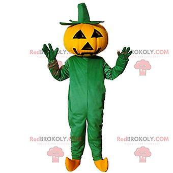 Mascotte REDBROKOLY.COM de citrouille d'Halloween géante, déguisement d'Halloween