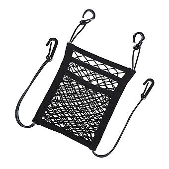 2/3 Layers car storage net bag organizer holder mesh seat back hanger trunk hooks string kit off road 4x4 truck auto accessories