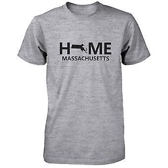 Dom MA stan szary Men's T-Shirt USA Massachusetts rodzinnym Tee