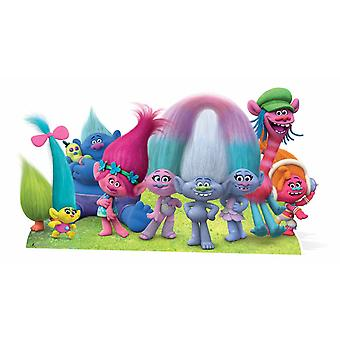 Dreamworks Trolls Group Panoramic Cardboard Cutout / Standee / Standup