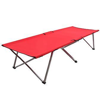 Leirisänky 206x75x45 cm XXL punainen
