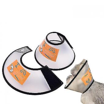 Adjustable Pet Cone Collar For Cats Puppy Rabbit, Pet Neck Cover Protect - M