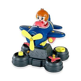 Wooden blocks diy model airplane model early game screw assemble toys baby educational toys blocks blue