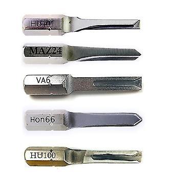 Professionele auto sleutel slotenmaker gereedschap 5 stuks power key combinatie roestvrij staal hu101 hu64 hu100