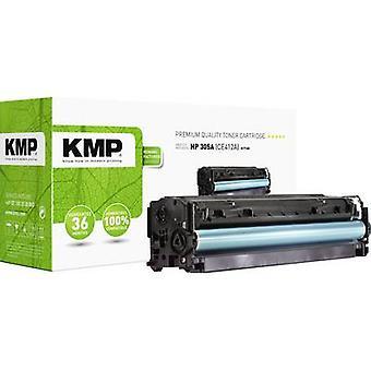 El cartucho de tóner KMP H-T160 reemplazó al cartucho de tóner compatible con hp 305A, CE412A amarillo 3400