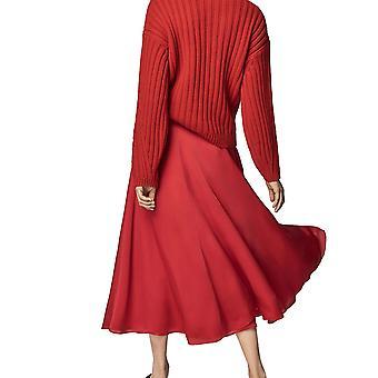 Zimowy ciepły golf Długi rękaw Gruby dzianinowy sweter z bufistym rękawem Sweter