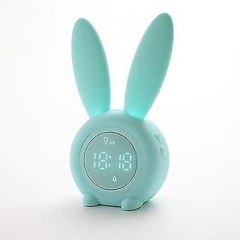 Belita Amy Réveil lumineux pour enfants, Lapin mignon Réveil pour enfants Lumière de nuit numérique Réveil LED Avec lampe de chevet Snooze Fonction Temps