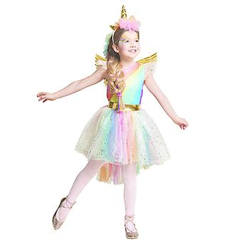 Kids Girl Unicorn Party Princess Cosplay Costume Fancy Dress Set