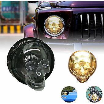 2pcs Skull Headlight Covers For Car Truck Motorcycle Universal Clear Lamp Cover Decorative