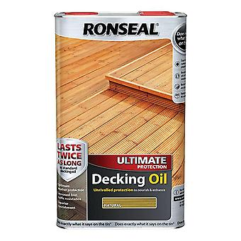 Ronseal último protección cubierta de aceite 5 litros - Natural