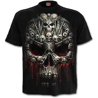 Spiraal-Death Bones-mannen korte mouw t-shirt, zwart