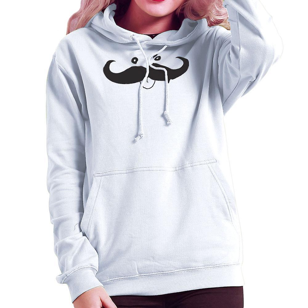 moustachio damen sweatshirt mit kapuze fruugo. Black Bedroom Furniture Sets. Home Design Ideas