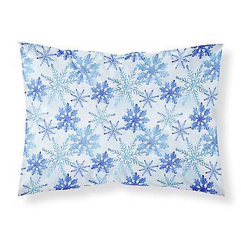 Blue Snowflakes Watercolor Fabric Standard Pillowcase