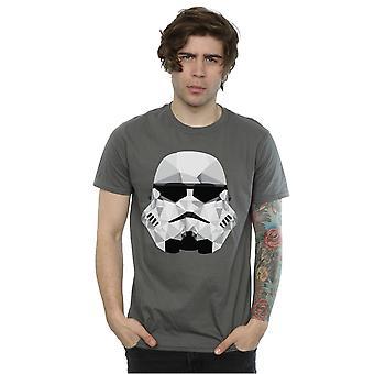 Star Wars Men's Stormtrooper Geometric Helmet T-Shirt