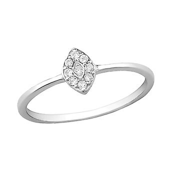 Marquise - 925 Sterling Silver Jewelled ringar - W30507x