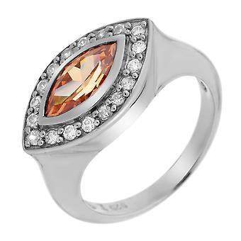 Orphelia srebro 925 pierścień szampana cyrkonu ZR-3354/2