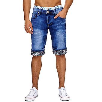Men's Jeans Shorts Pants Stonewashed stretchbund Capri Short Pants Denim Summer
