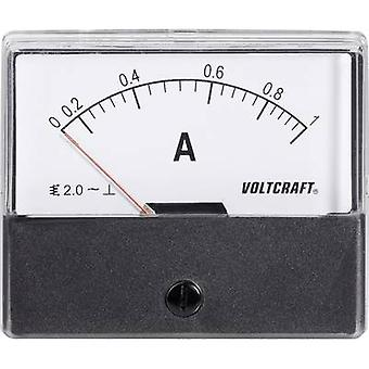 Analogue rack-mount meter VOLTCRAFT AM-70X60/1A 1 A Moving iron