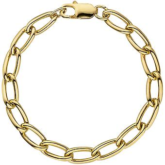 Panzerarmband 925 Silber gold vergoldet 19 cm Armband
