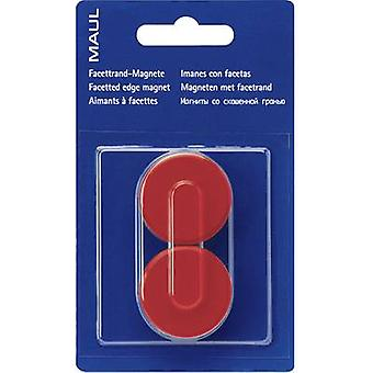 Maul Magnet MAULpro (Ø x H) 34 mm x 13 mm Round, Facet edge Red 2 pc(s) 6178225