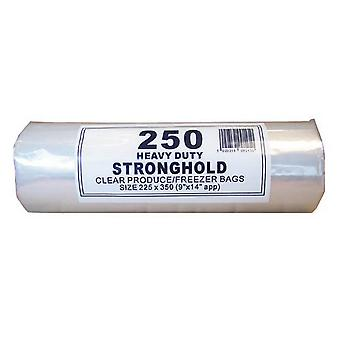 Smith & Bateson 250 Heavy Duty Stronghold Clear Poly Bags On A Roll