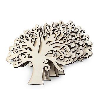 TRIXES trä träd dekoration hängen 10st