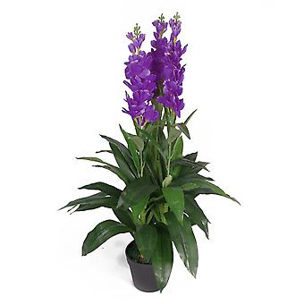 100cm Artificial Cymbidium Orchid Plant - Extra Large - Purple Flowers