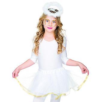 Angel sæt 2 dele. Kids hovedbøjle med Halo englevinger tilbehør Carnival engel kostume