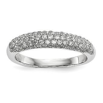 925 Plata de Ley y Zirconia CZ Cubic Zirconia Simulado Diamante Fancy Ring Joyería Regalos para Mujer - Tamaño del Anillo: 6 a 8