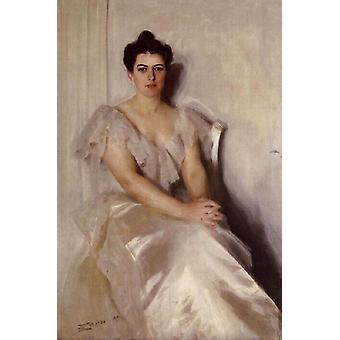 السيدة فرانسيس كليفلاند,أندرس زورن, 60x40cm