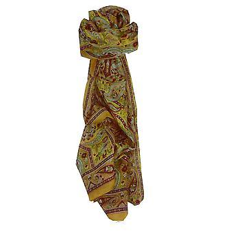 Amoreira cachecol longo tradicional Diya ouro por Pashmina & seda