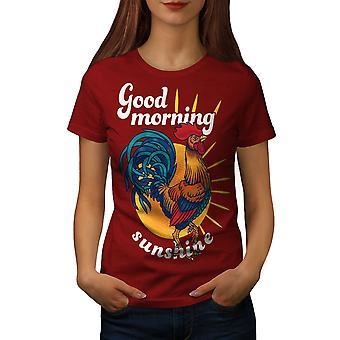Good Morning Sunshine Women RedT-shirt   Wellcoda