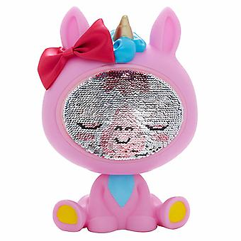 The Zequins Lumini Pink Unicorn Leksaksfigur Docka Med Paljetter