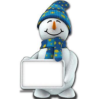 Sneeuwpop met Sign - Lifesize karton gestanst / Standee