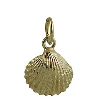 9ct guld 19x18mm Sea Shell hänge eller Charm