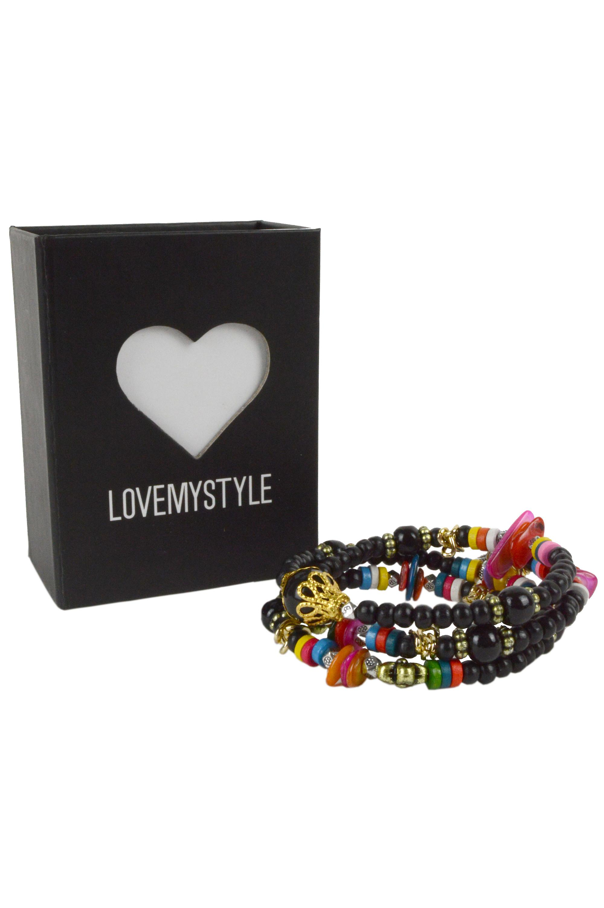 LMS Colourful Friendship Bracelet With Charms And Beads.