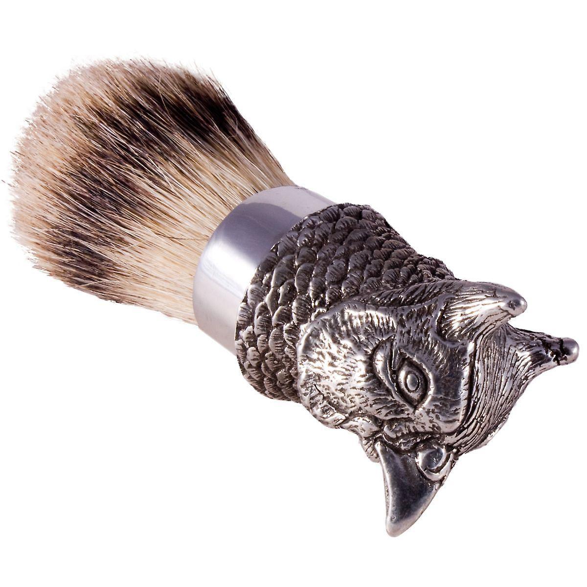 The English Pewter Co Silvertip Badger Hair Shaving Brush-Pheasant