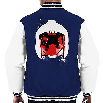 Original Stormtrooper Rebel Pilot Helmet White Paint Splatter Men's Varsity Jacket