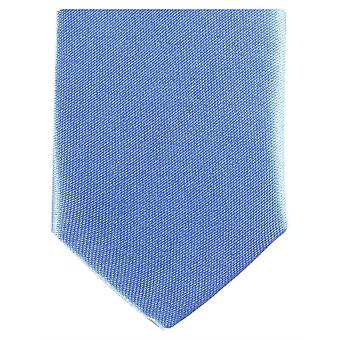 Knightsbridge Neckwear Skinny Polyester Tie - Light Blue