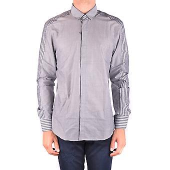 Neil Barrett Ezbc058053 Men's Camisa de Algodão Cinza