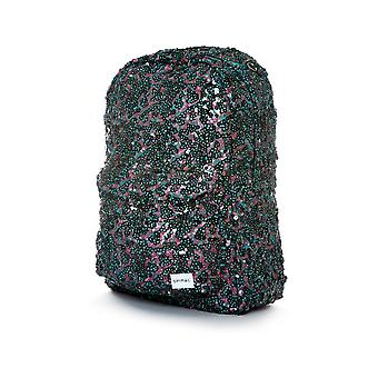 Spiral Infinity Sequins Backpack in Black Glamour