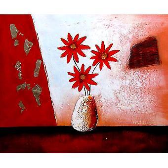 الزهور اللوحة الزيتية على قماش، 50x60 سم