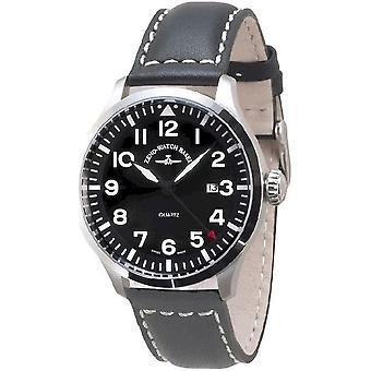 Zeno-watch mens watch Navigator NG quartz, black 6569-515Q-a1