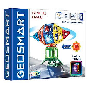 GeoSmart Space Ball With Spinner Magnetic Play 36 PCs