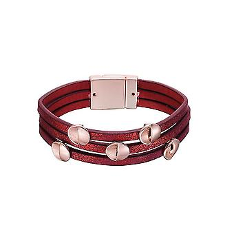 Fable Womens/Ladies Metallic Leather Look Bracelet